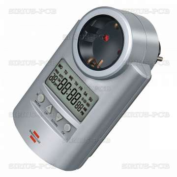 Таймер седмичен електронен DT V2; 24-часов, програмируем, 230VAC, 16A, 3680W
