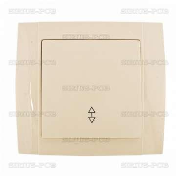 Електрически ключ HAKAN SR-2510, СХ.6, девиаторен, крем