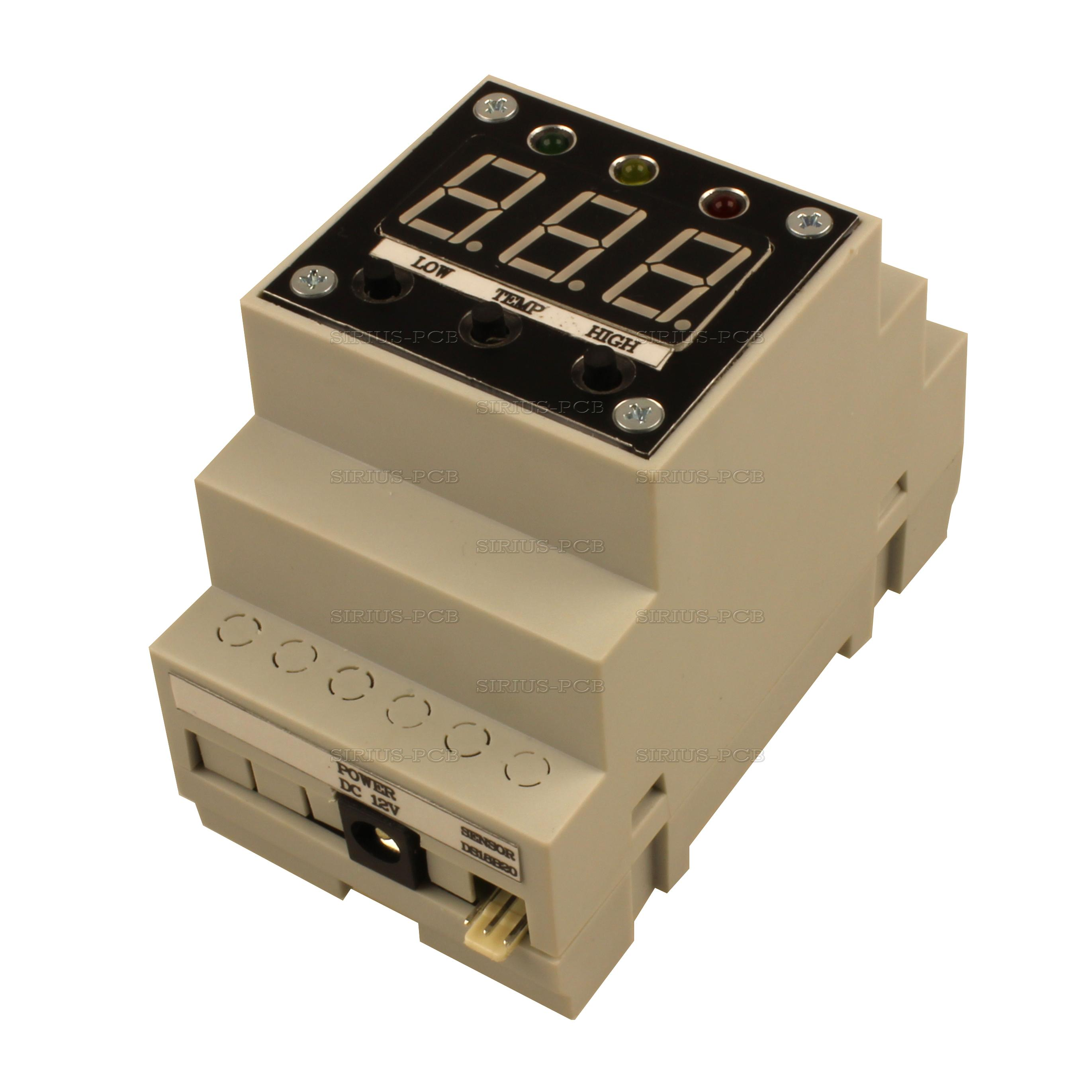 Терморегулатор Thermo Control 12V 3 Relay OUT BOX
