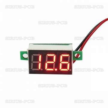 """Мини волтметър от 3.5V до 32V DC, червен 0.36"""""""