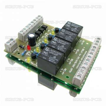 4 RELAY OPTO for PIC, AVR, CNC 24V
