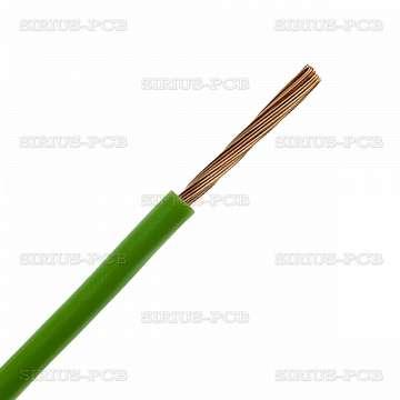 Кабел H05V-K (ПВ-А2) 1x0.75 - 0.3/0.5kV, зелен