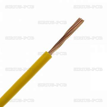 Кабел H05V-K (ПВ-А2) 1x0.75 - 0.3/0.5kV, жълт