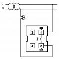 Електрически ключ HAKAN SR-2509, звънчев, бял