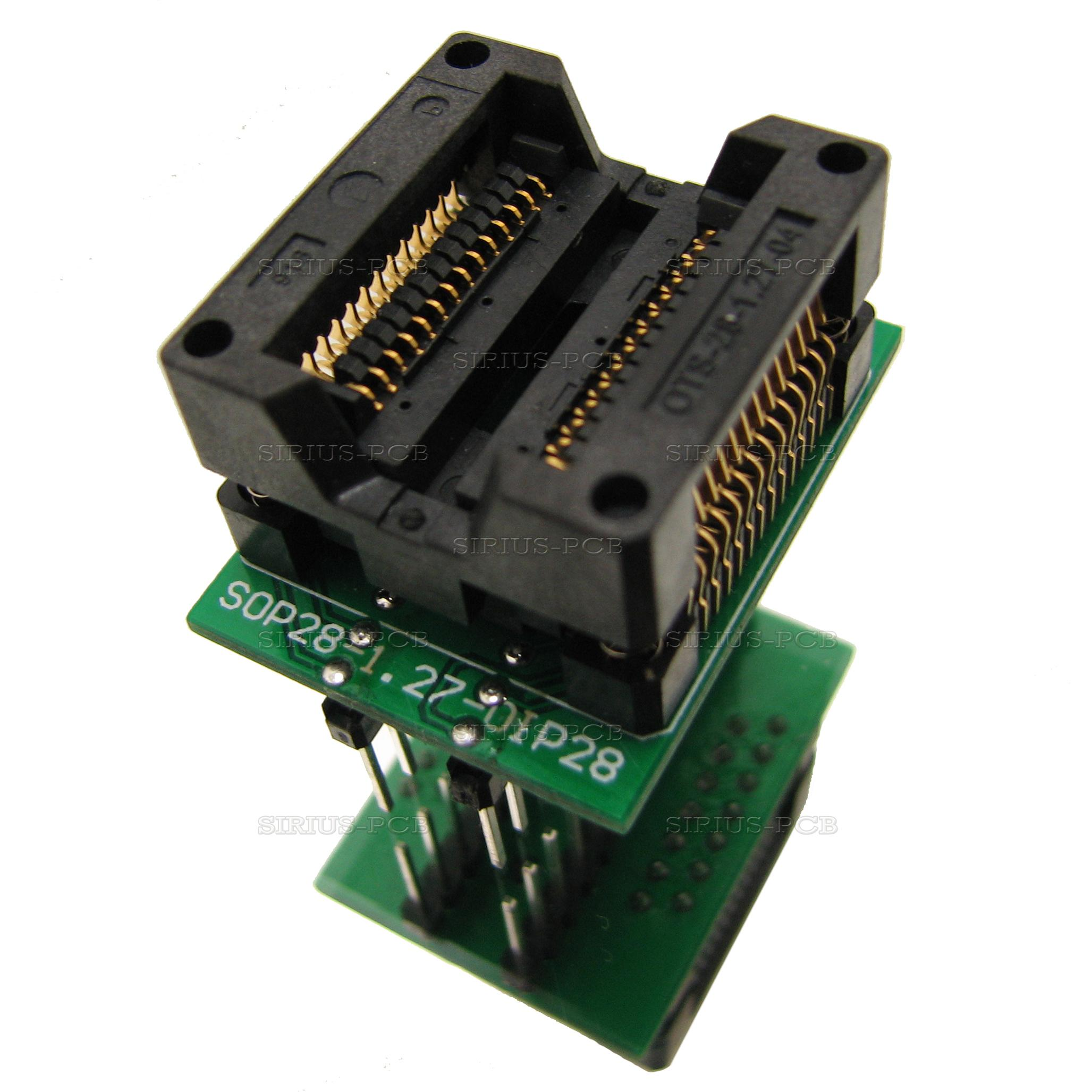 Адаптер преходник SOP28, SO28, SOIC28 300mil към DIP28