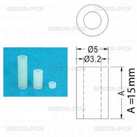 Дистанционна втулка - полиамид FIX-3-15