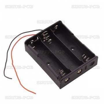 Държач за батерии 3x18650 Lithium
