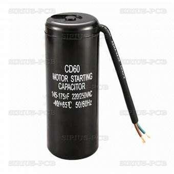 Кондензатор Пусков с кабел 130-156uF/330VAC ±10 процента
