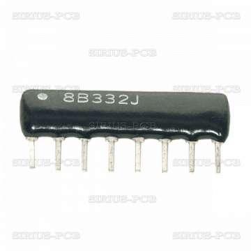 Резисторна матрица 4.7k/7+1; THT; 0.125W; ±2%