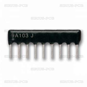 Резисторна матрица 3.3k/8+1/ THT/ 0.125W/ ±2 процента