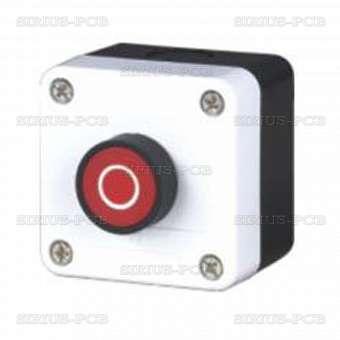 Бутониера единична LAY5-B112; 400V/10A; SPST - NC; червен бутон