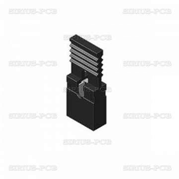 Джъмпер JUMPER-H/B / щифтов / женски с държач / 2.54mm / 1x2 / черен