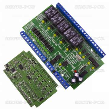 Контролер PLC 12in 10out RS485 PIC16F1619 Controller 12V