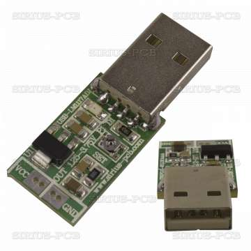LM1117ADJ-USB  Регулатор на напрежение Uin-USB / Uout 1.25÷3.75V