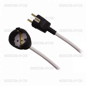 Удължител 1-ен гумен удароустойчив, 3x1.5mm2, IP20, невлагозащитен, черен