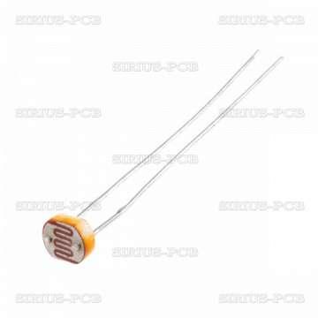 Фоторезистор LDR07; 100mW; 50kΩ; THT; 150VDC