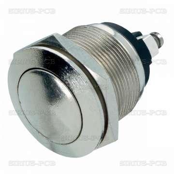 Бутон PBS-28B / NO / 250VAC/5A / незадържащ / метален