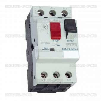 Моторна защита по ток (АТ00) DZ518-08 трифазна 2.5A до 4A NO+NC 6A/380VAC