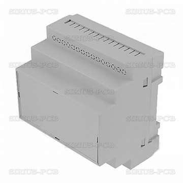 Кутия за монтаж върху евро-шина Z-109J-PS / 90x87x65mm / сива