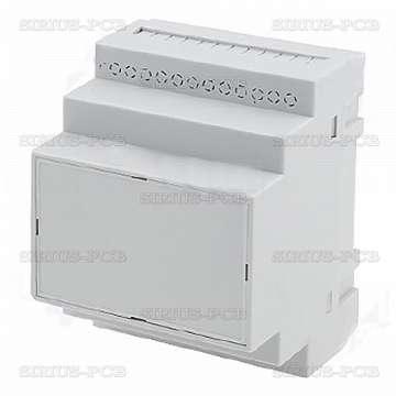 Кутия за монтаж върху евро-шина Z-108J-PS / 90x70x65mm / сива