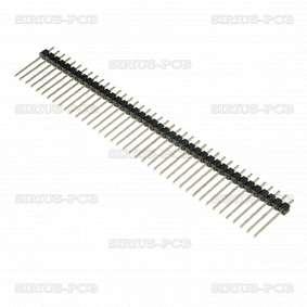 Рейка щифтова ZL209-40P / мъжка / 40 Pin / вертикална / 2.54mm / THT / 1x40