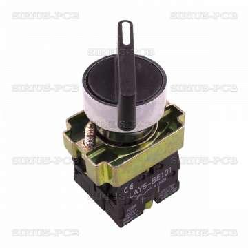 Панелен превключвател  бутон LAY5-BJ45 ф22mm 10A/240VAC 2 позиции SPST