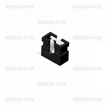 Джъмпер MJ3.4-2.00; щифтов; женски; 2.00mm; 1x2; черен