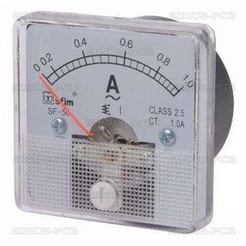Амперметър 0-1A/AC SF50 директен