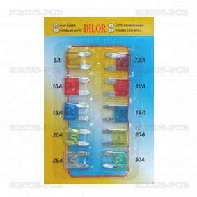 Автомобилни предпазители - комплект 10 бр. 11x3x16mm