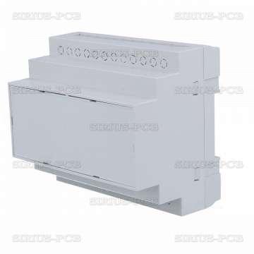Кутия за монтаж върху евро-шина Z-110-ABS / 90x104.8x65mm / сива