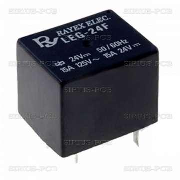 Реле електромагнитно LEG-24F; 24VDC; 15A/120VAC; 15A/24VDC