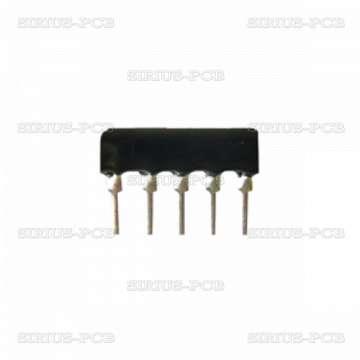 Резисторна матрица 4.7k/4+1; THT; 0.125W; ±2%