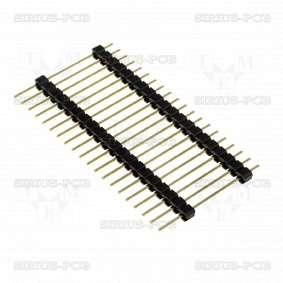 Рейка щифтова ZL2029-20 / мъжка / 20 Pin / вертикална / 2.54mm / THT / 1x20