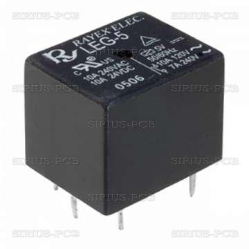 Реле електромагнитно LEG-5F; 5VDC; 15A/120VAC; 15A/24VDC