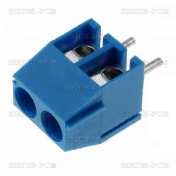 Клема TB-3.5-P-2P/BL; 2 PIN; 0.5÷1.5mm2; 3.5mm; 10A
