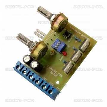 3 канален светодиоден PWM регулатор + Стробоскоп 3 LED PWM x 75W